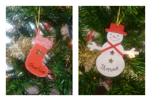 Bauble, Mummy Blogging, Parent Blog, Personalised, Personalised Decorations, review, Samigails Gifts, Snowman, Stocking, Tree, Wood, Yorkshire Blog