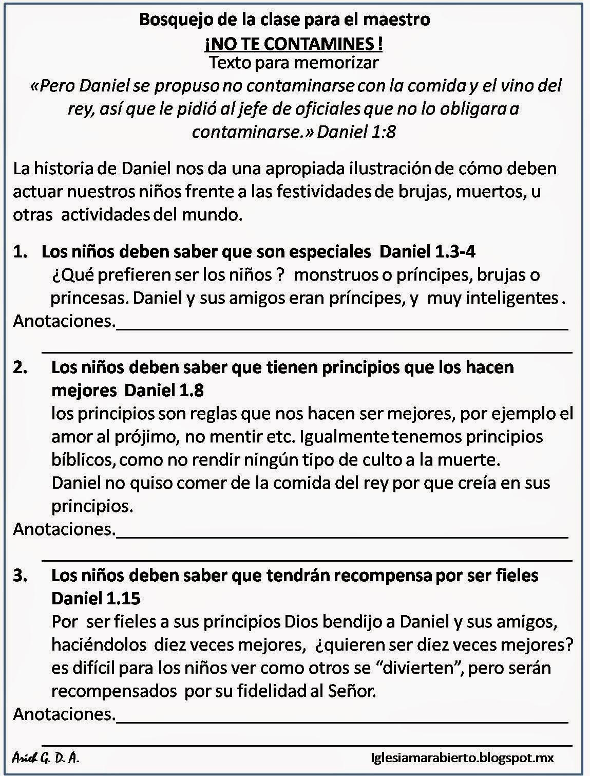IGLESIA MAR ABIERTO: Clase para niños cristianos ¡NO TE CONTAMINES!