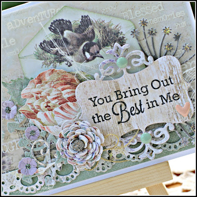 Bring Out the Best Card created by Rhonda Van Ginkel featuring the Deja Vu collection by Blue Fern Studios for C'est Magnifique Kit Club June 2015 Kits Guest Designer
