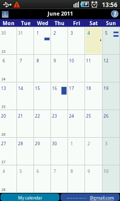Android Calendar - Month View