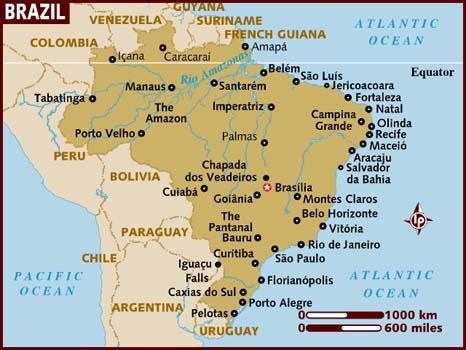 Map of Manaus Brazil