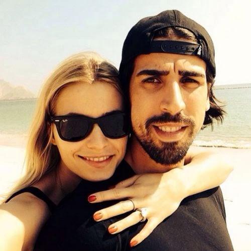 Lena Gercke with Sami Khedira