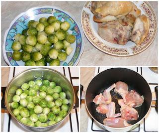 carne de pui prajita, varza de bruxelles fiarta, retete culinare, retete de mancare, retete cu carne de pui si varza de bruxel, preparate din carne de pui si varza de bruxelles,