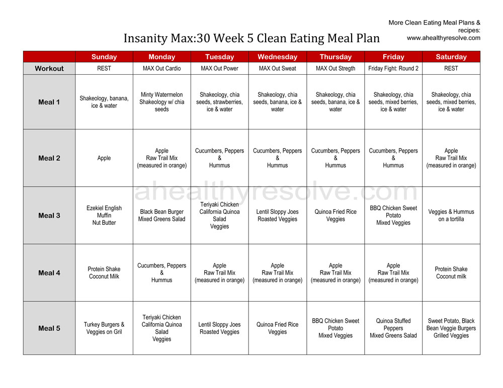 trainers share 13 tips to meal plan insanity program