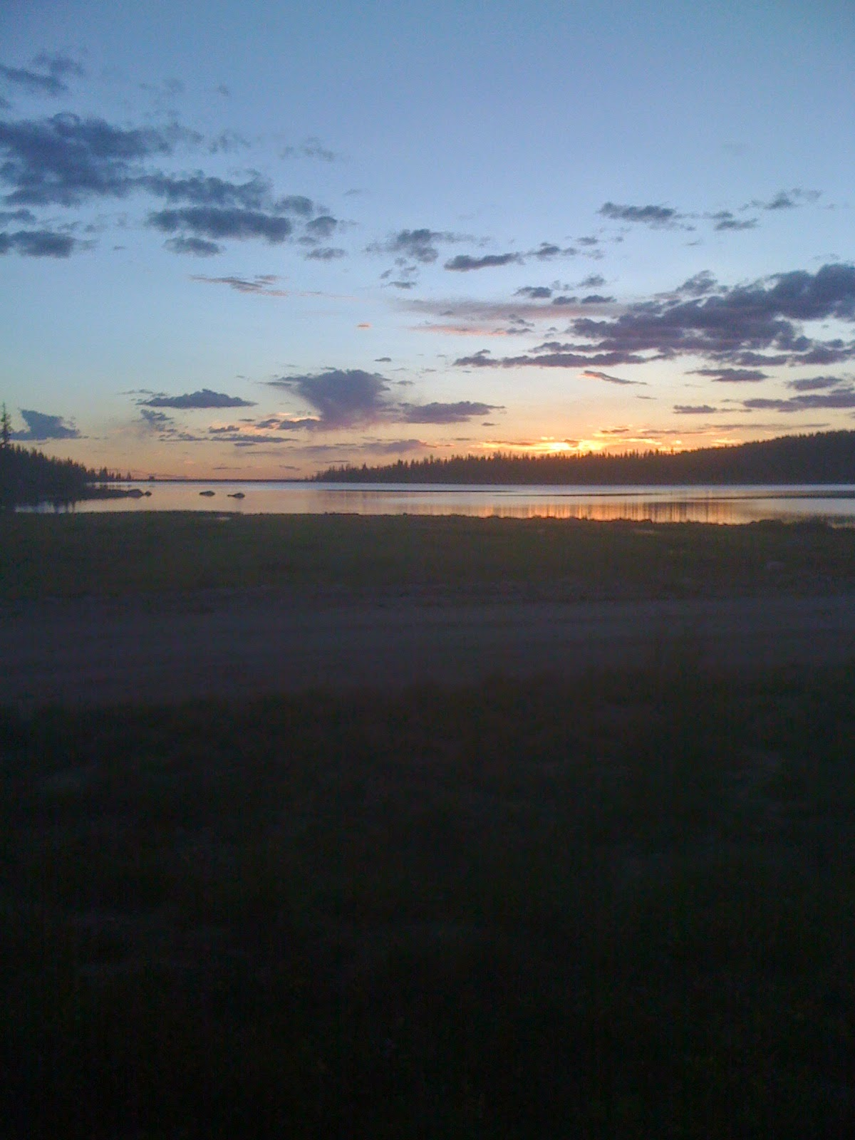 Sunset at Fish Creek Reservoir