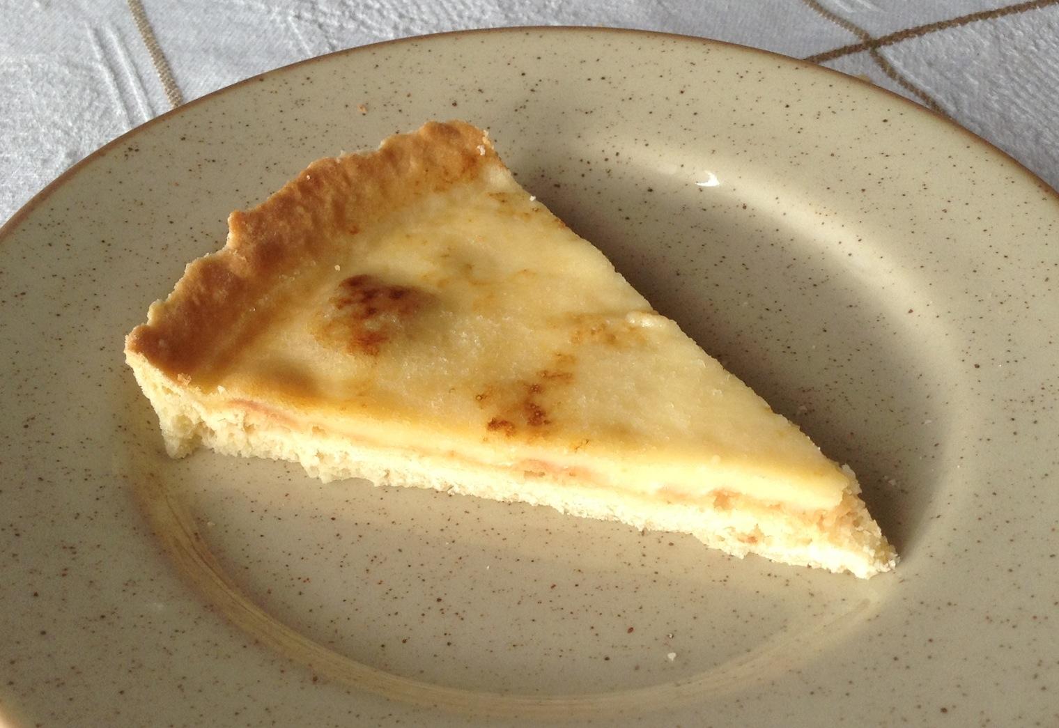 Tarta de crema tostada