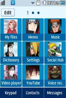 Anime Naruto Samsung Corby 2 Theme Menu