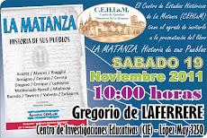 """Presentación del libro """"La Matanza, Historia de sus pueblos"""""""