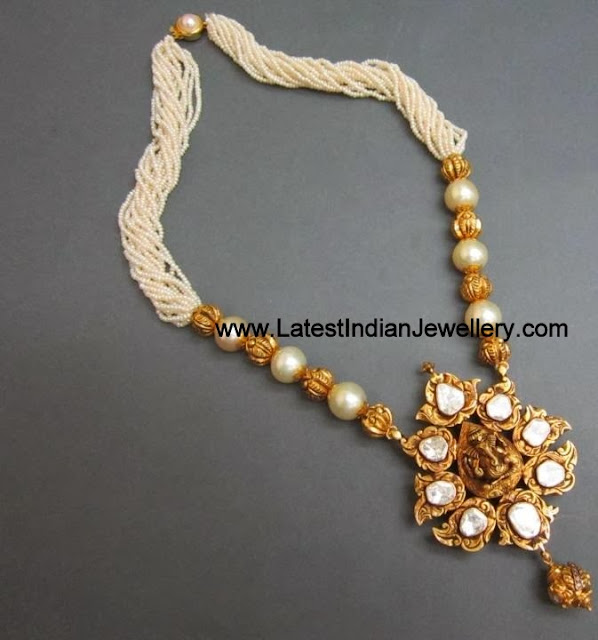 Temple Jewellery with Pearls