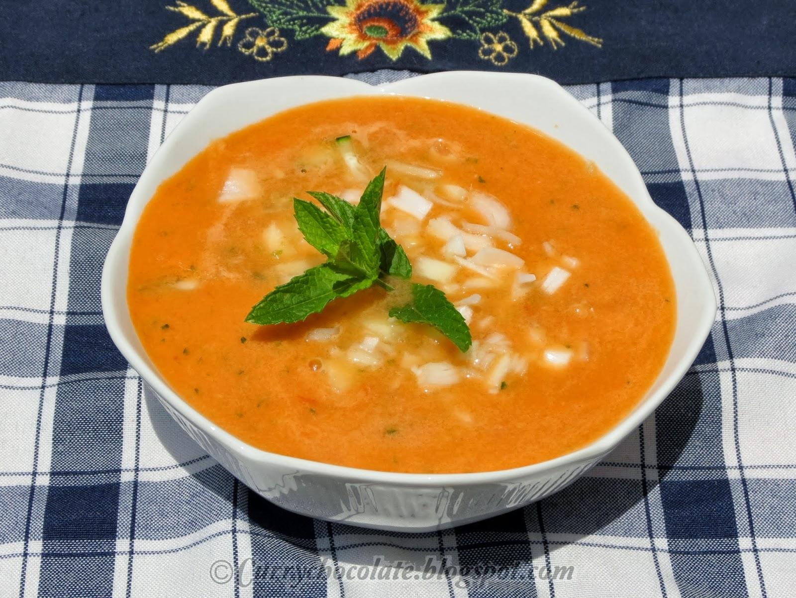 Как приготовить суп гаспачо пошаговое фото
