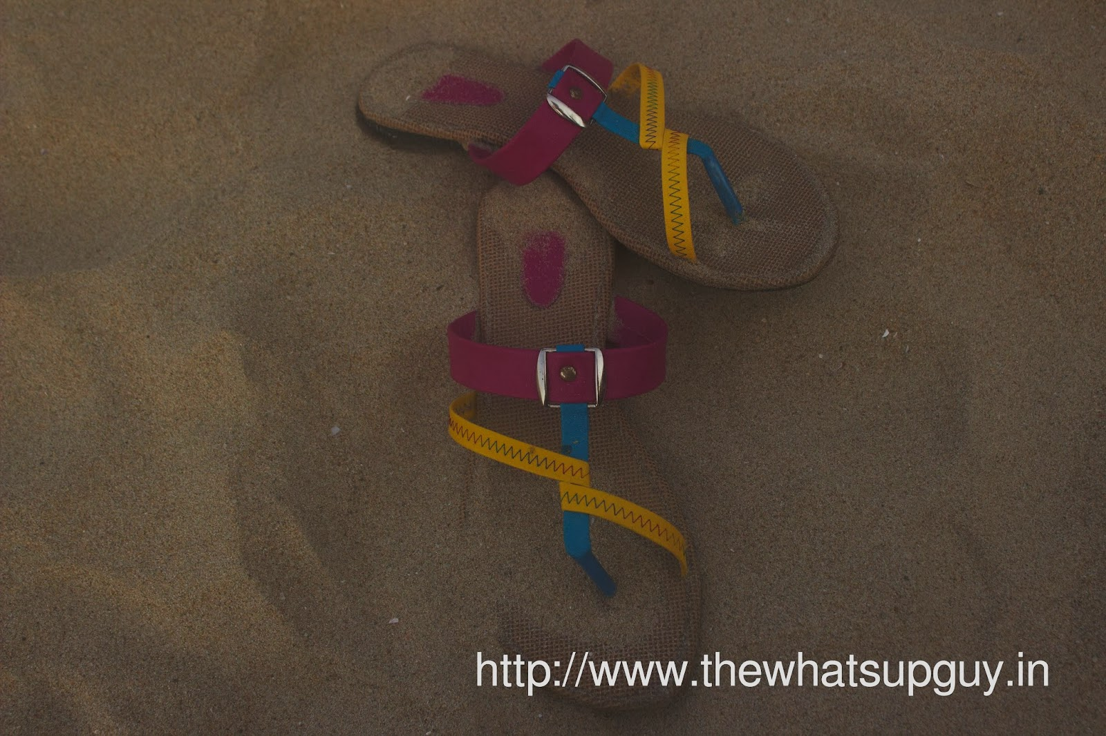 Sandals On Sand At Pradise Island Pondicherry