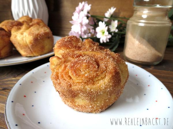 Cinnamon Breakfast Buns bzw. Zimtzucker-Frühstücksbrötchen | Foodblog rehlein backt