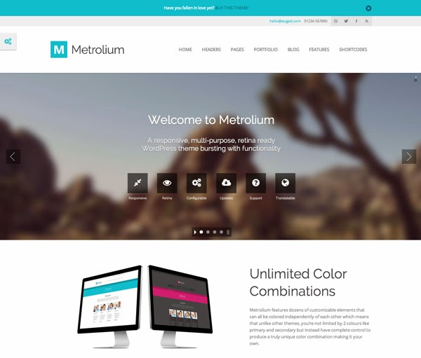 Metrolium WordPress Theme
