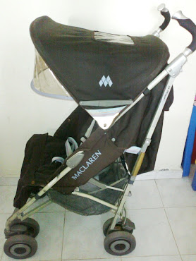 Maclaren Techno XLR Stroller in Coffee/Soft Blue (used)
