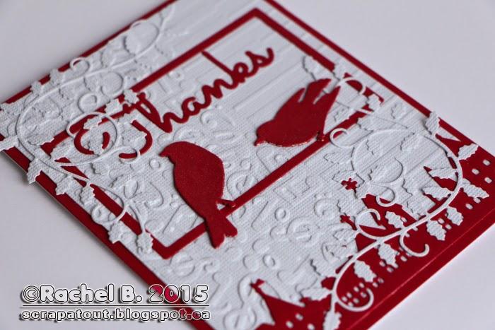 Handmade card, Impression Obsession, Thanks