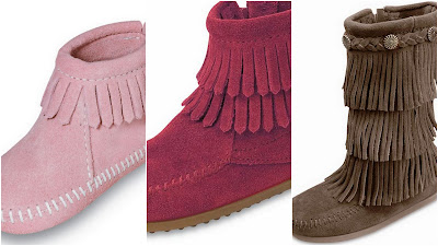 Pink Fringed Boots, Red Fringed Boots, Chocolate Fringed Boots, Fall Family Footwear