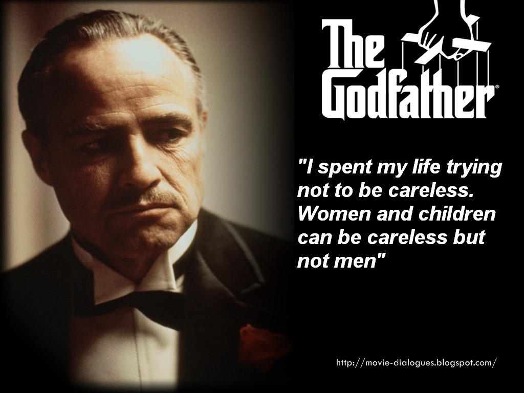 Friendship Quotes Godfather : Movie quotes and dialogues some great from