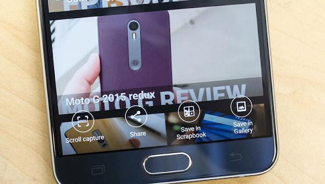 Bagaimana cara mengambil screen capture bergulir kebawah pada Galaxy Note 5