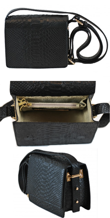 Rachael Ruddick Le Trop mini handbag python effect black