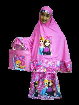 Mukena Anak Frozen Pink - KODE PMF02