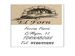 EL FORN - TORNABOUS