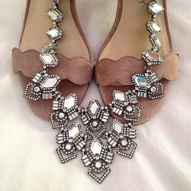 deco diamond necklace