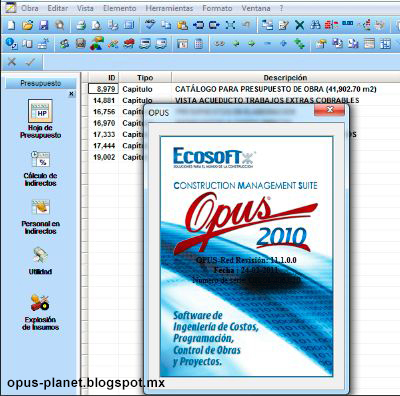 Importar de Opus 2010 a Opus Planet 2011