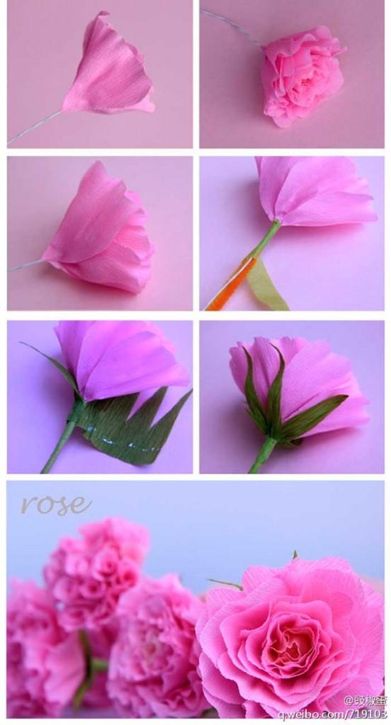 O Fazer Flor Rosa De Papel Crepom Decoracao Casamento Aniversario
