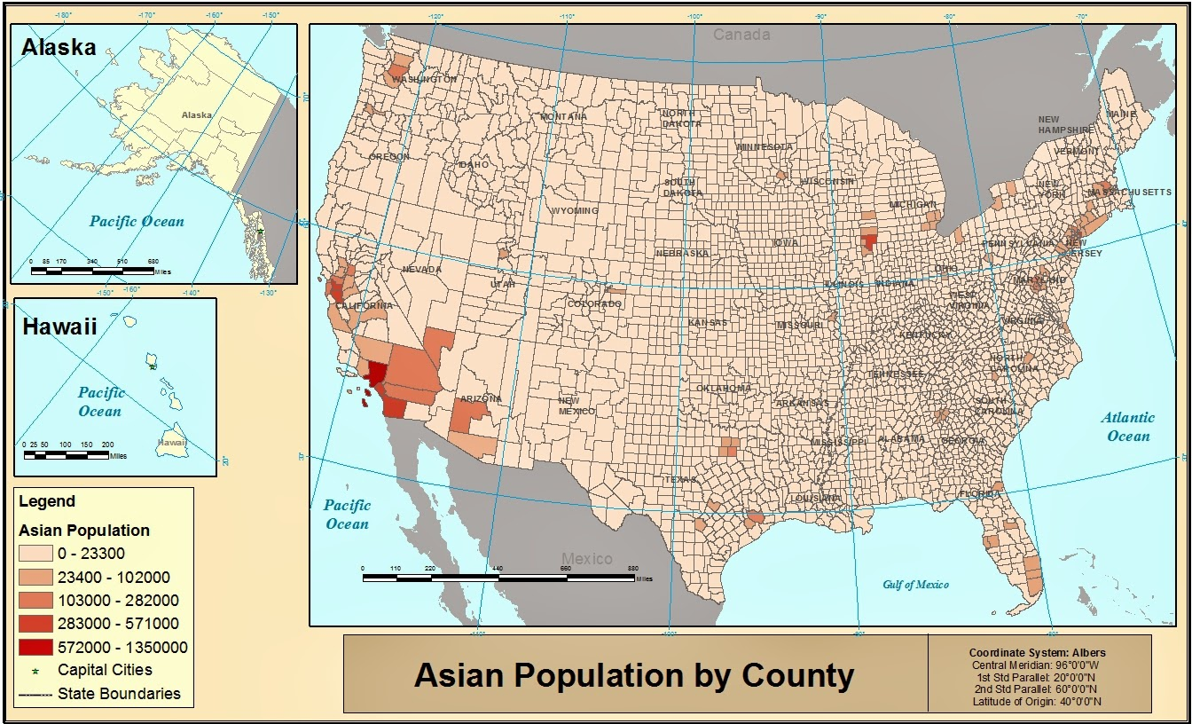 below are some examples of thematic maps dealing with three select minority group classifications from the 2010 united states census