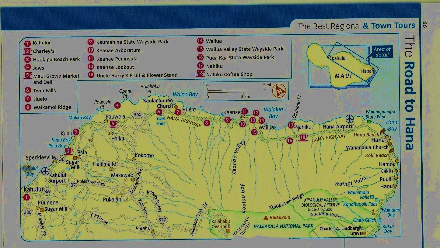 Road To Hana Map maps and atlases