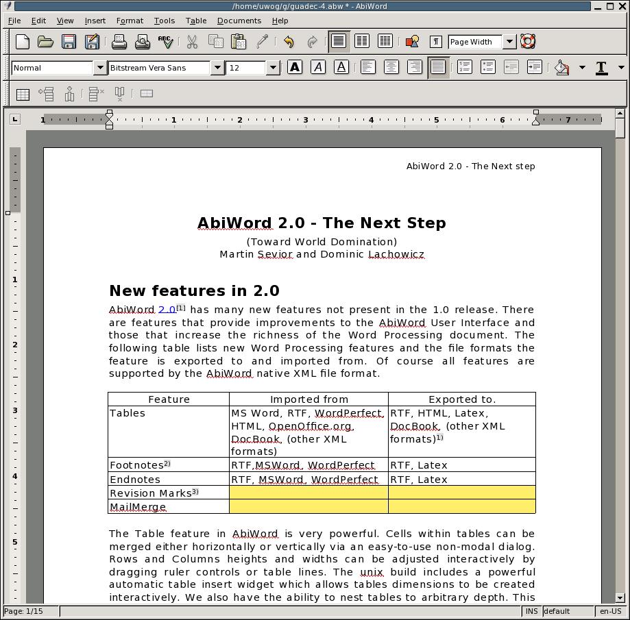 Abiword Setup 2.9.4 Full İndir