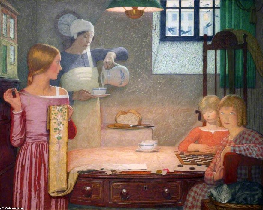 """Childhood"" by Frederick Cayley Robinson (1862-1927)"