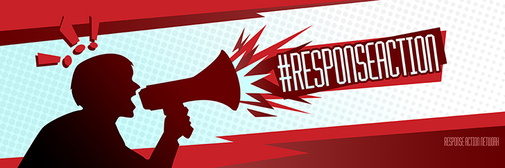 Response Action Network Social Banner Graphic Design