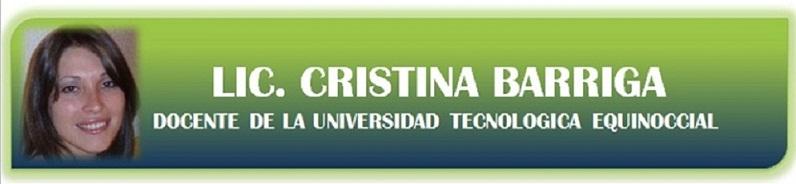 Docente Cristina Barriga