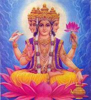 Brahma atmet Universen ein und aus