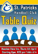 Table Quiz Apr 4th 2013