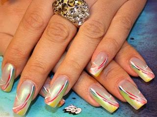 adesivos para unhas decoradas colorido e transparente
