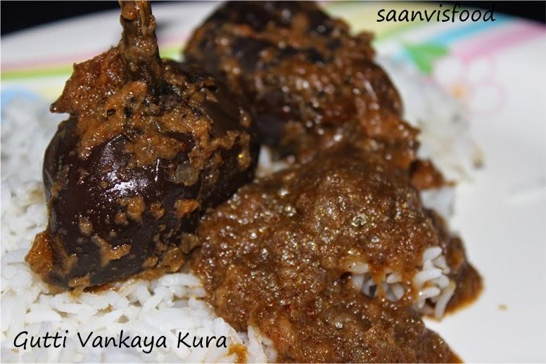 Gutti Vankaya Kura/Stuffed Brinjal Curry