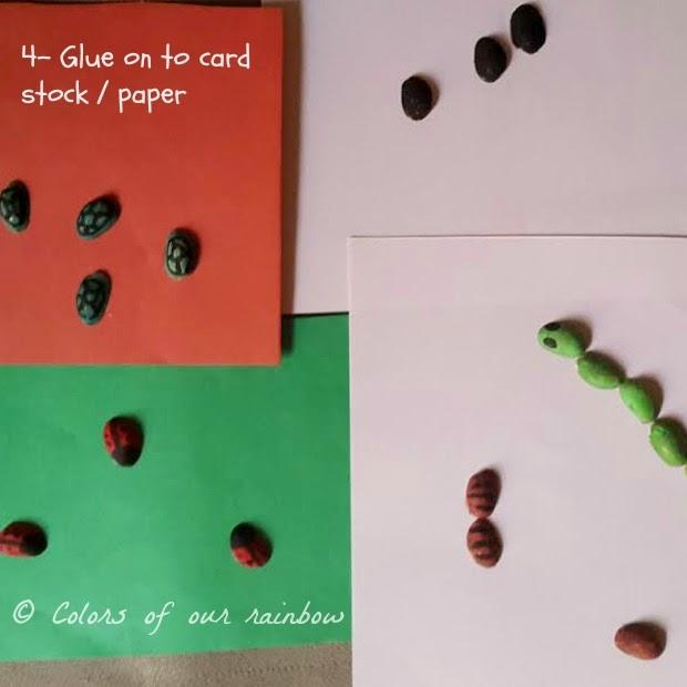 pistachio shell craft- mini animals- colorsofourrainbow.blogspot.ae