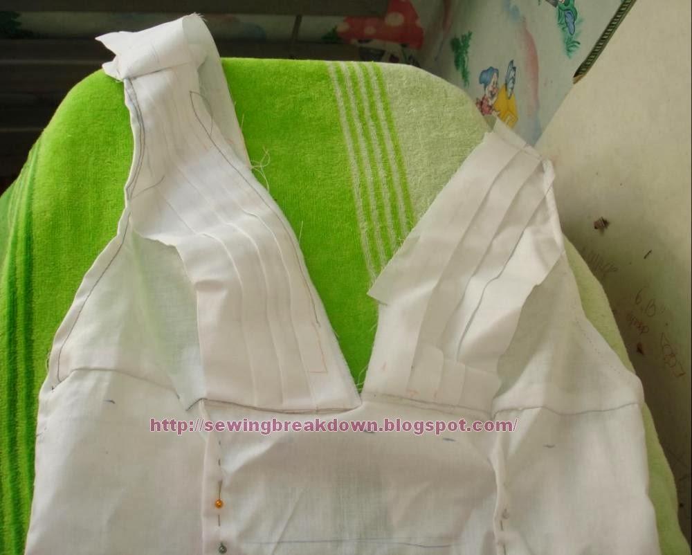 طريقة خياطة فستان سهرة قصير