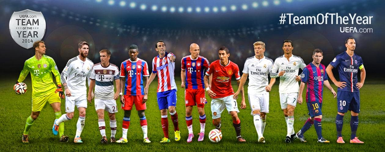 UEFA Team Of The Year 2014