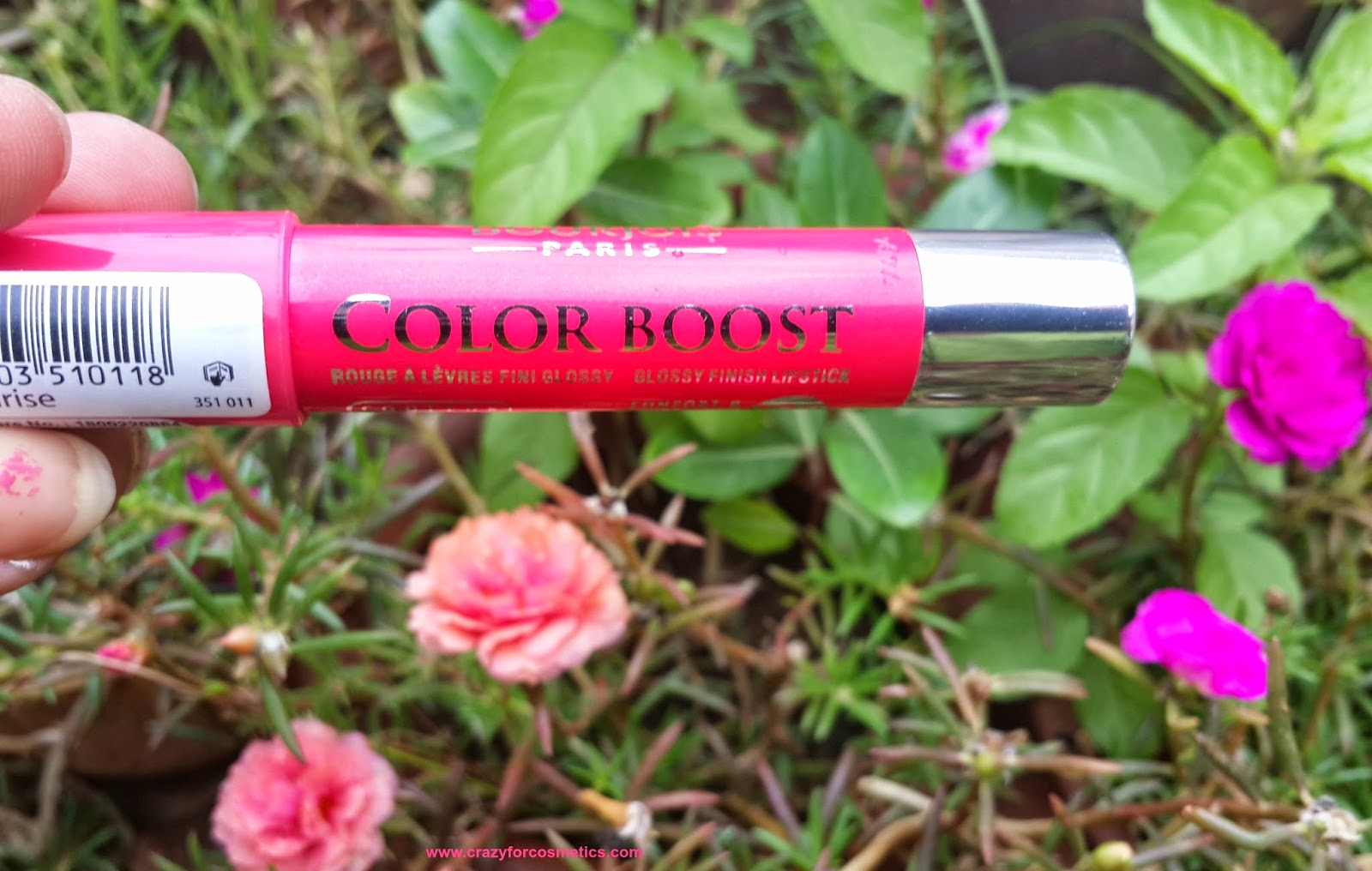 Bourjois Paris Color Boost Lip Crayon in Red Sunrise Swatch