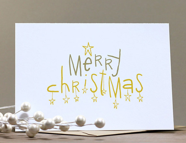 merry christmas own design card