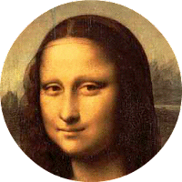 Mona Lisa - recorte redondo duma imagem