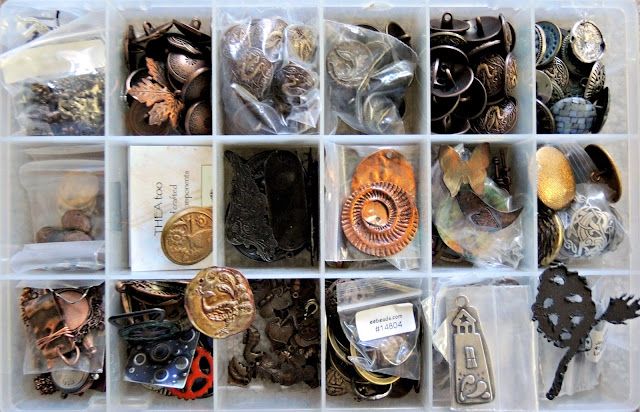 Metal buttons and findings and jewelry components