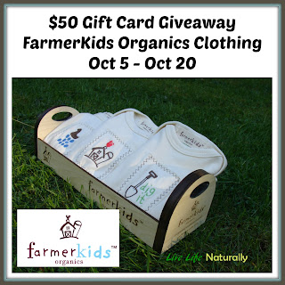 Enter the  $50 FarmerKids Organics Gift Card Giveaway. Ends 10/20