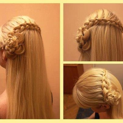 Прическа с цветами из волос