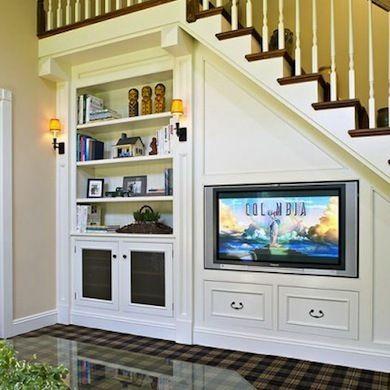 Desk In Kitchen Behind Stairway Ideas