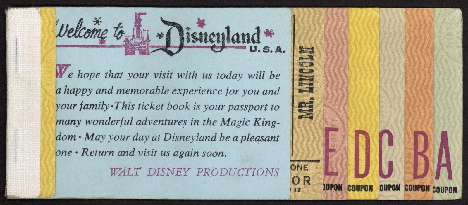 disneyland ticket vintage