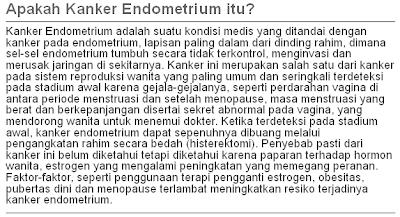 kanker endometrium